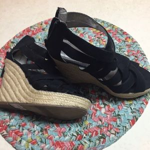 Shoes - Black wedge good condition